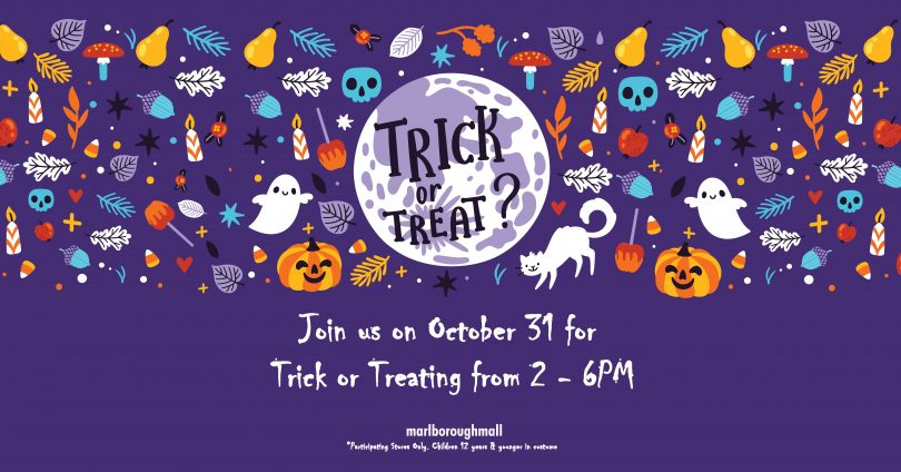 trick-or-treating at Marlborough Mall